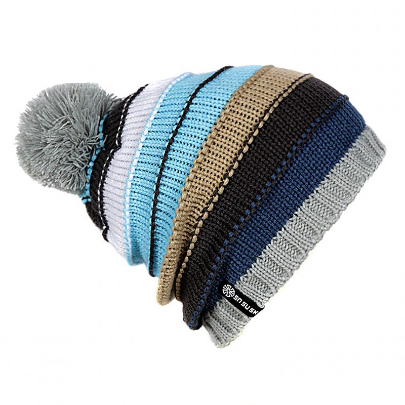 Fashion Winter Hat   Skullies     Beanies   Winter Warm Hat Pompom Women   Beanie   Knitted Caps Female Outdoor Leisure Warm Cap