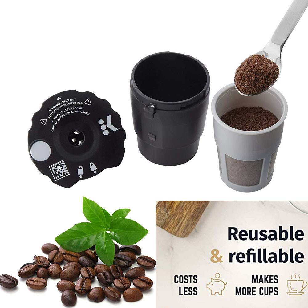 Reusable Coffee Filter For Keurig Coffee Capsule Cups Coffee Maker Filter Reusable Compatible Coffeeware Kitchen