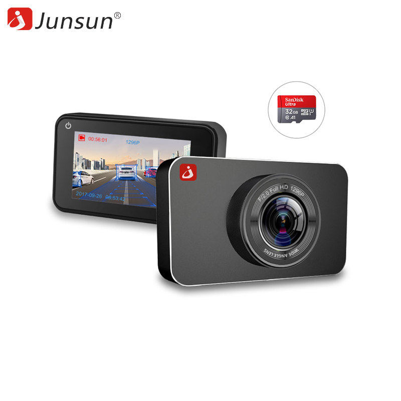 Dash camera Junsun H9P Car DVR 32GB  Portable Recorder Motion Detection Night Vision professional 5 inch 1080p android car smart system gps navigation wifi car rearview mirror dual lens car dvr camera recorder