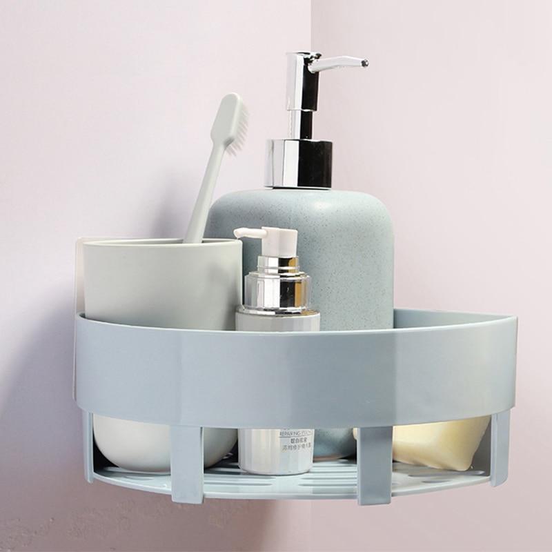 VEHHE Multifunction Plastic Bathroom Shelf Wall Hanging Corner Shelf ...