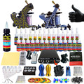 Complete Tattoo Kit for Beginner Starter Tattoo machine kit 2 Pro Machine Guns 28 Inks Power Supply Needle Grips Set TK204-36