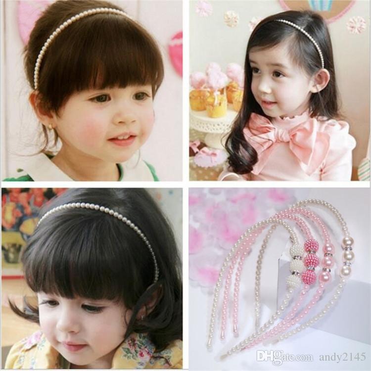 New Korean Style Princess Pearl Elegant Kids Girl Pearl Headbands Hair Bands Women Children Hair Accessories mism girl french hair bun maker multifunctional hair accessories for women fine roller curls styling holder curlers headbands