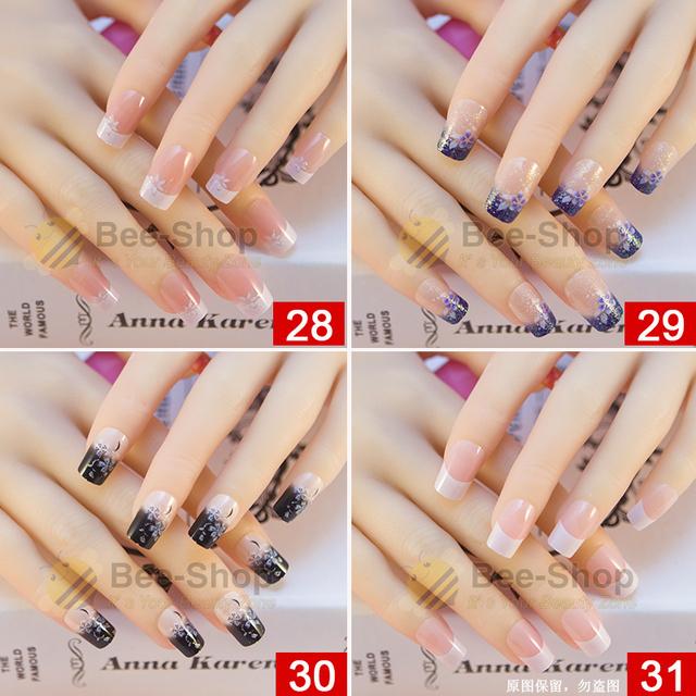 27 Style OF 24pcs Per Set Acrylic Full Cover False Nail Arts