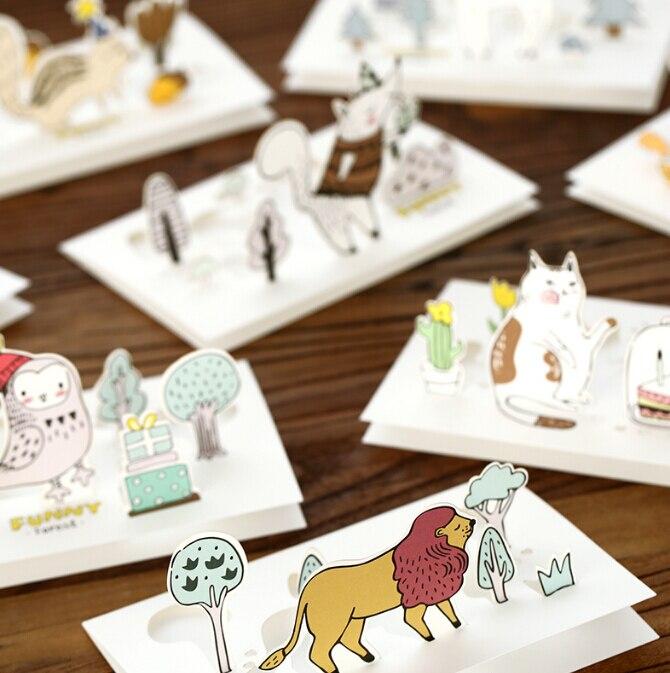 1PC/lot Cute Cartoon Series Greeting Cards Gift Birthday Card(tt-4053)