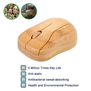 Image 4 - 2.4G Wireless Optical Bamboo Mouse 3 Adjustable DPI Computer Mouse with USB Receiver for Notebook PC Laptop Computer office use
