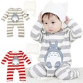 Toddle Baby Set Clothes With Hat Cotton Cartoon Totoro Velvet  Autumn&Winter Warm Casual Baby Jumpsuit 3 Size For 0-2Y
