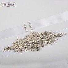 Шелковая sash невеста перл роскошный хрусталь невесты лента горный свадьба ремень