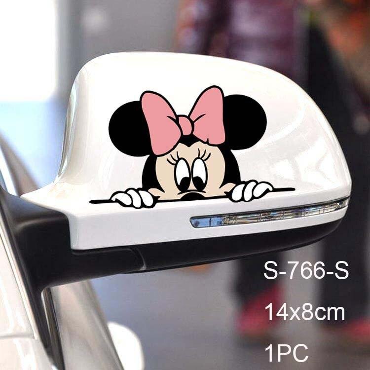 Автомобильная наклейка на кузов, боковая наклейка, большой размер, милый рисунок Микки Мауса, виниловая, для грузовика, для всего тела, для автомобиля, голова, аксессуары для укладки - Название цвета: S-766 for Rear View