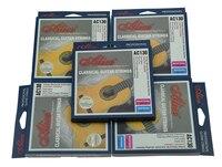 5 יחידות אליס רגיל/מתח גבוה ברור מתח רגיל ניילון מחרוזת גיטרה קלאסית מיתרי פצע בציפוי כסף נחושת