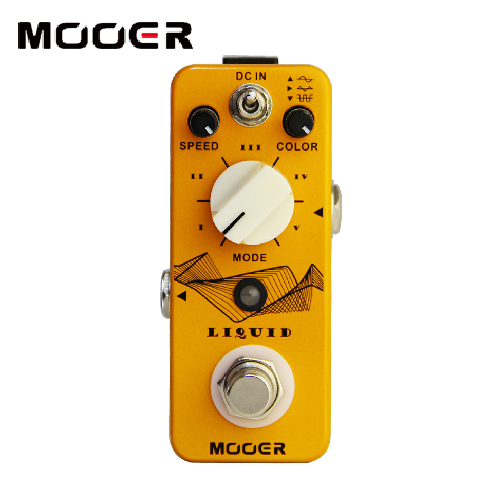 MOOER Liquid Digital Phaser Guitar Pedal with 5 Different Phase Effect Types Guitar effect pedal new effect pedal mooer hustle drive distortion pedal true bypass excellent sound