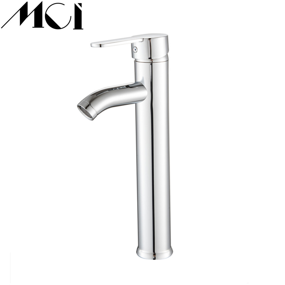 Chrome Finish Bathroom Basin Faucet Stainless Steel Basin Mixer Tap Bathroom Sink Basin Mixer Tap Home