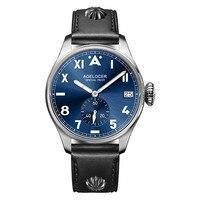 Swiss Agelocer Тритий газ светящиеся часы Бизнес Мужские часы Роскошные простые мужские часы мужские 316L сталь Ретро военные часы