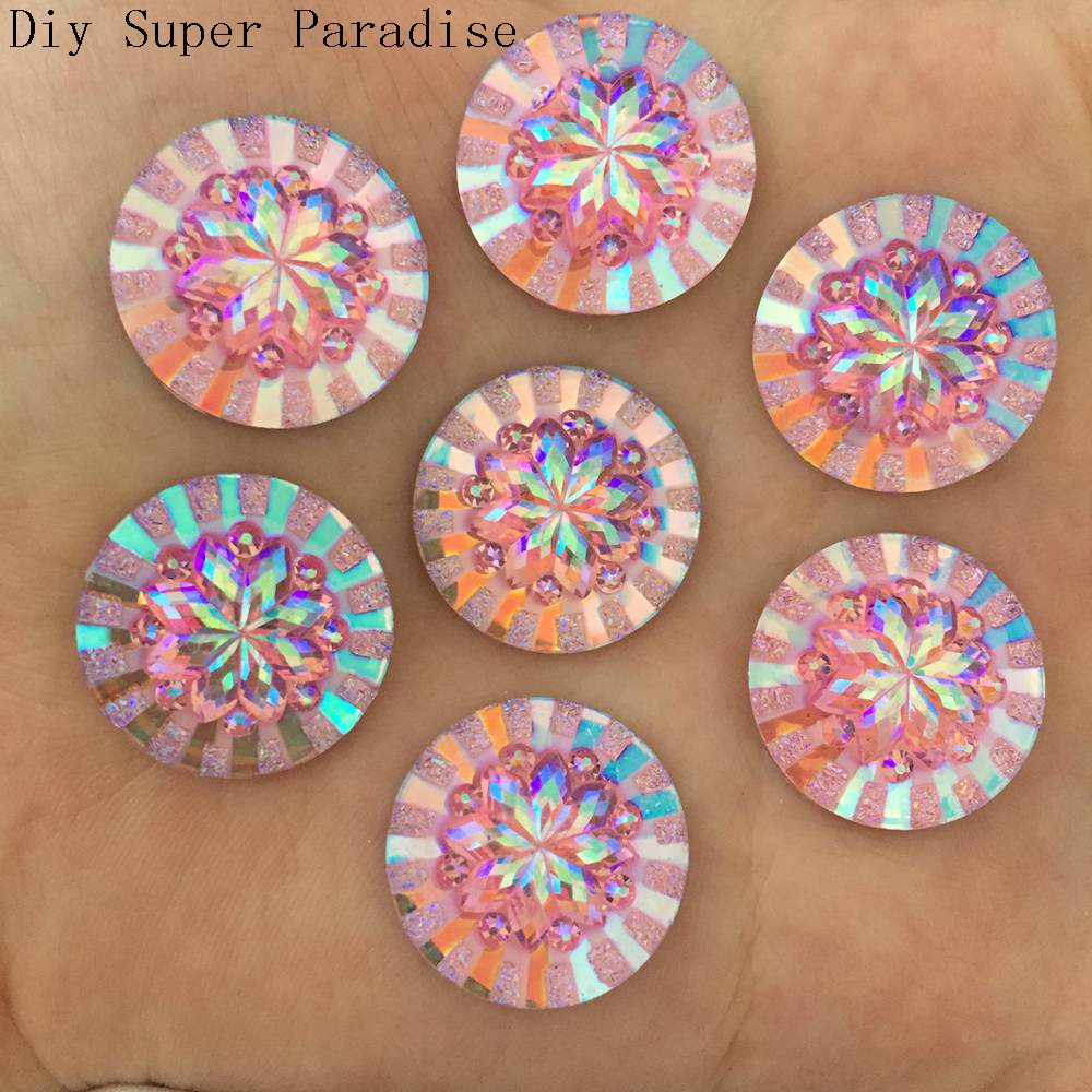 Aliexpress.com   Buy New 30pcs 20mm AB Resin Round Flatback 3D Flower Rhinestone  Wedding Buttons DIY K66 3 from Reliable wedding button suppliers on ... 2b0a17dfb8b0