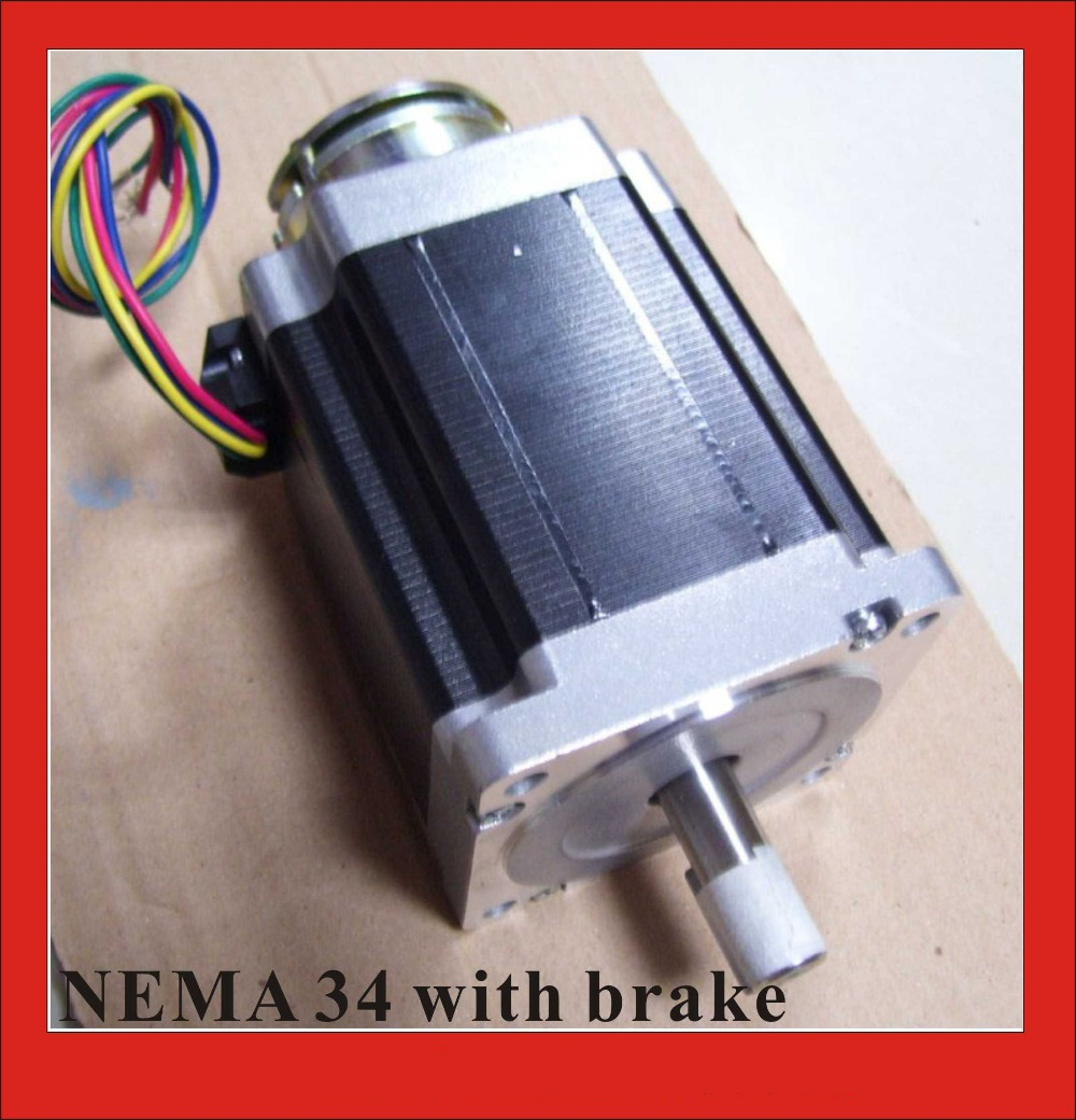 NEMA 34 Stepper Motor Brake 24VDC 2N (278oz-in) Off-power Brake Stepper Nema34 4-lead 98mm Body Length Nema34 Brake 5 1 precision version nema34 planetary stepper motor 98mm motor length nema 34 gear stepper