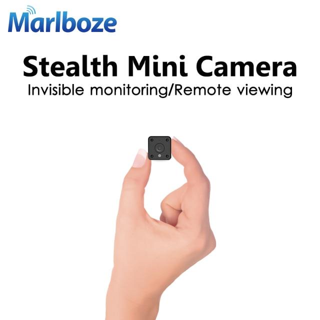 Marlboze 1080 P HD WIFI Mini cámara IP de visión nocturna detección de movimiento Mini videocámara bucle vídeo incorporado cuerpo de la batería cam