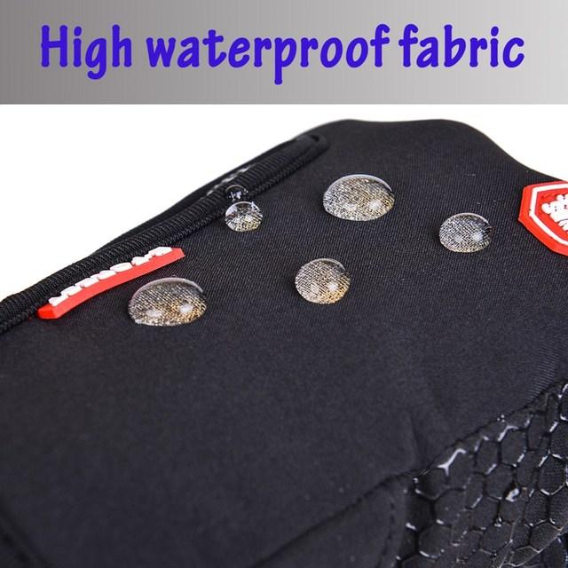 Outdoor Sports Windstopper Waterproof Gloves Black Riding Glove Motorcycle Gloves Touch Screen Black Full Finger Men 3