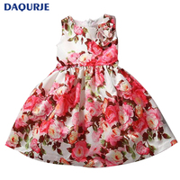 2015 New 1pcs Girls Cute Dresses Trendy Birthday Summer Party Flower Girl Dresses Elsa Kids Clothes