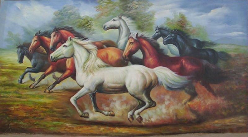 Aliexpress.com : Buy 100% Handmade running horses oil ...