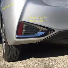 Lapetus Exterior Refit Kit Fit For Toyota YARIS / VITZ 2018 2019 ABS Chrome Rear Fog Lights Tail Lamp Frame Trim 2 Piece