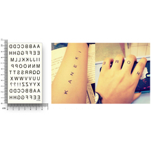 Black Letter Water Transfer Fake tattoos Disposable Waterproof Temporary Words Stickers beauty Women Men Sexy Cool Body Art