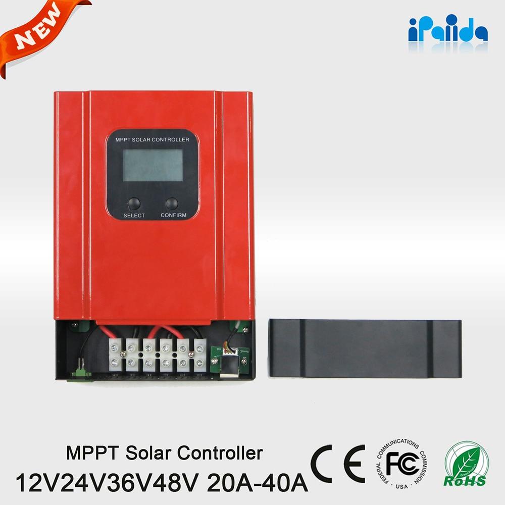 все цены на  Hot sales LCD LED Display MPPT Charge Controller 20A Solar System Controller 12v 24v 36v 48v for home use  онлайн