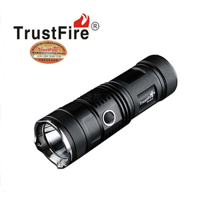 TrustFire A9-2 CREE XM-L2 Cool White Light 900lm 5-Mode LED Flashlight +1x26650+1xCharger richfire sf ct1 900lm white vehicle charging flashlight w cree xm l2 u3 black silver 1x16340