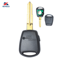 KEYECU Replacement Remote Car Key Fob Side 1 Button 433MHz ID46 for Kia Rio Picanto Soul Venga Ceed etc