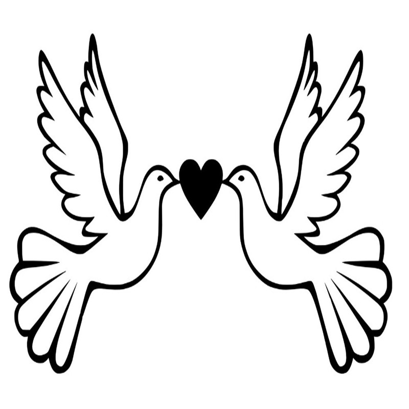 Personalised Dove Love Birds Vinyl Wall Sticker Bedroom Kids Art Decal Wall Stickers For Livingroom Home Decor Vinyl Wall Stickers Wall Stickerstickers For Aliexpress