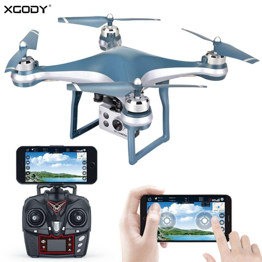 Drone quadrirotor RC XGODY Premium avec caméra réglable 5MP 1080 P WIFI FPV Mini hélicoptère avion Mini caméra Drone