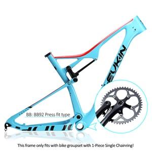 """Image 5 - OG EVKIN cf049 eps carbono mtb quadro de bicicleta 29er ud brilhante bb92 bicicleta conjunto de quadros 15.5 """"17.5"""" 19 """"21"""" fone de ouvido 1 1/8 """"1 1/2"""""""