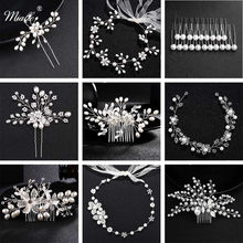 Miallo Fashion Pearls Wedding Hair Clip Bridal Hair Accessories Jewelry Flower Comb Hairpins Handmade Pearl Headpieces(China)