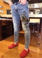 2018 new High Quality fashion Jeans Runway Summer man Brand Luxury Men's Clothing A07429