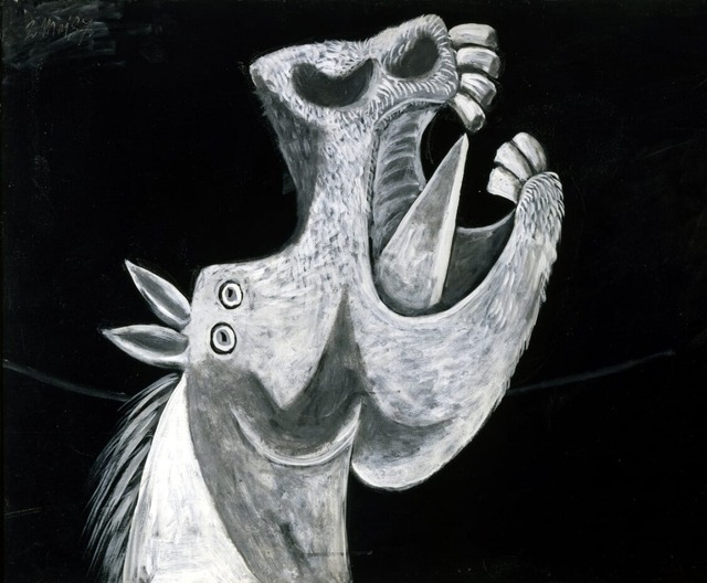 Picasso cabeza de caballo Horse Head Printed Oil Painting On Canvas ...