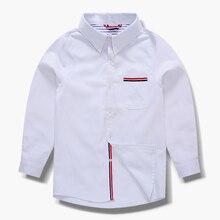 Рубашка для мальчиков от 2 до 12 лет одежда с длинными рукавами для мальчиков на весну и осень года красивые рубашки одежда для детей старшего возраста хлопковые топы для детей