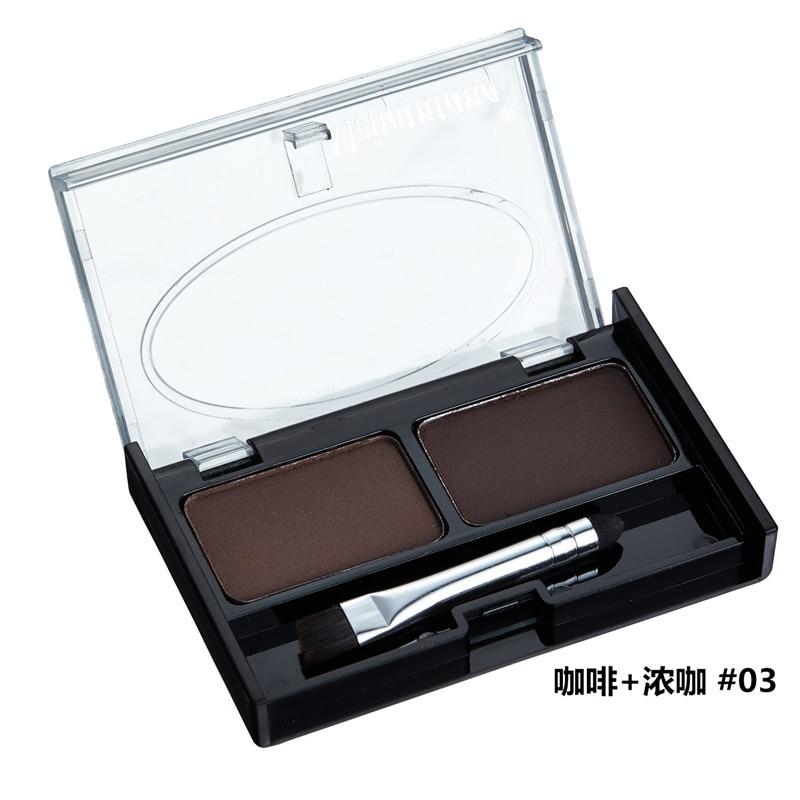 Professional Eye Brow Makeup 2 Color Shadow brow Powder With Brush brow Cake Dark Brown Make Up Palette Set Kit New 3