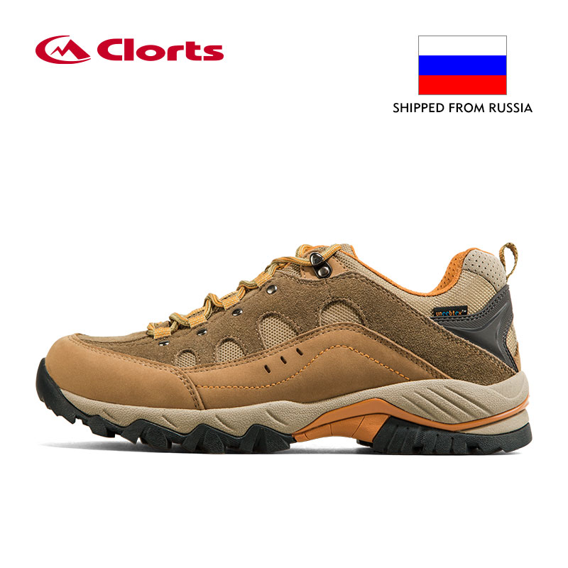 Russia Domestic Delivery Outdoor Hiking Boots Clorts Suede Leather Climbing Shoes Men Waterproof Mountain Hiking Shoes HKL-815 clorts waterproof hiking shoes for women breathable outdoor mountain shoes suede leather climbing footwear