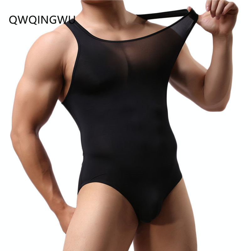 Sexy Men Onesie Vest Pajamas 2018 Brand Summer Sexy Cotton Male Underwear Body Shaping Homewear Men Pajamas Gay Men Onesies