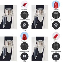 3 piece set DIY 12.1mm simple lipstick filling tube silicone mold aluminum ring single hole bracket homemade lipstick tool sim aluminum lipstick mold diy 2 cavities hole aluminum alloy lipstick fill mold eagle mouth shape for 12 1mm tube