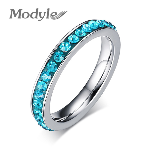 2018 New Fashion Cute Rings for Women Single Row Crystal Wedding Ring Jewelry Wholesale Promotion
