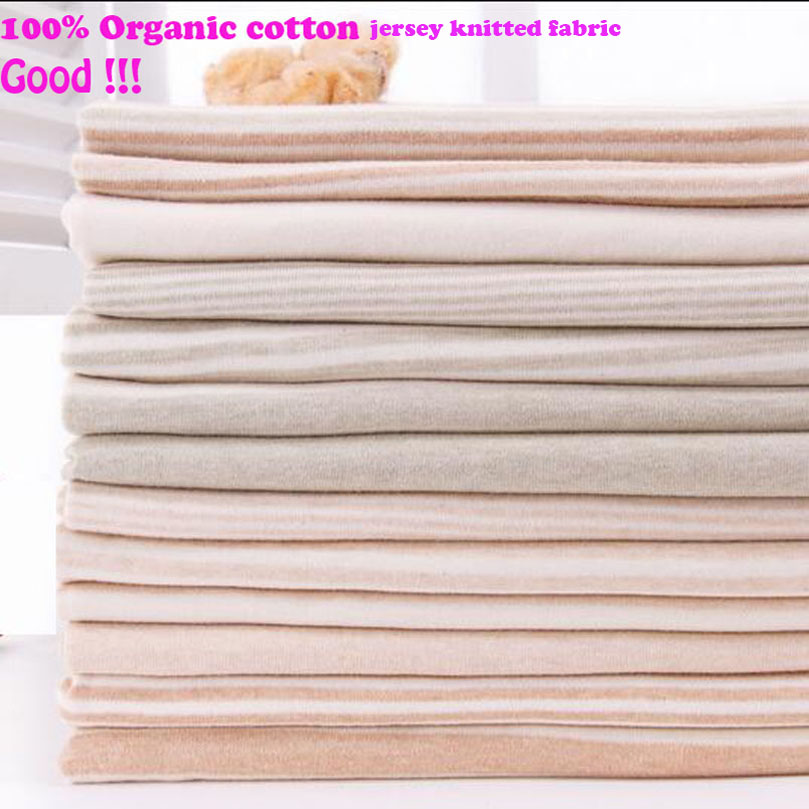 160 50cm2pc new good cotton knit fabric 100 organic cotton for Cotton sewing material