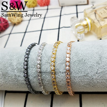 5 pieces Original Lover Gift Simple Line Bead Inlaid Shining Adjustable High Quality Women Bracelet Routine Party(China)