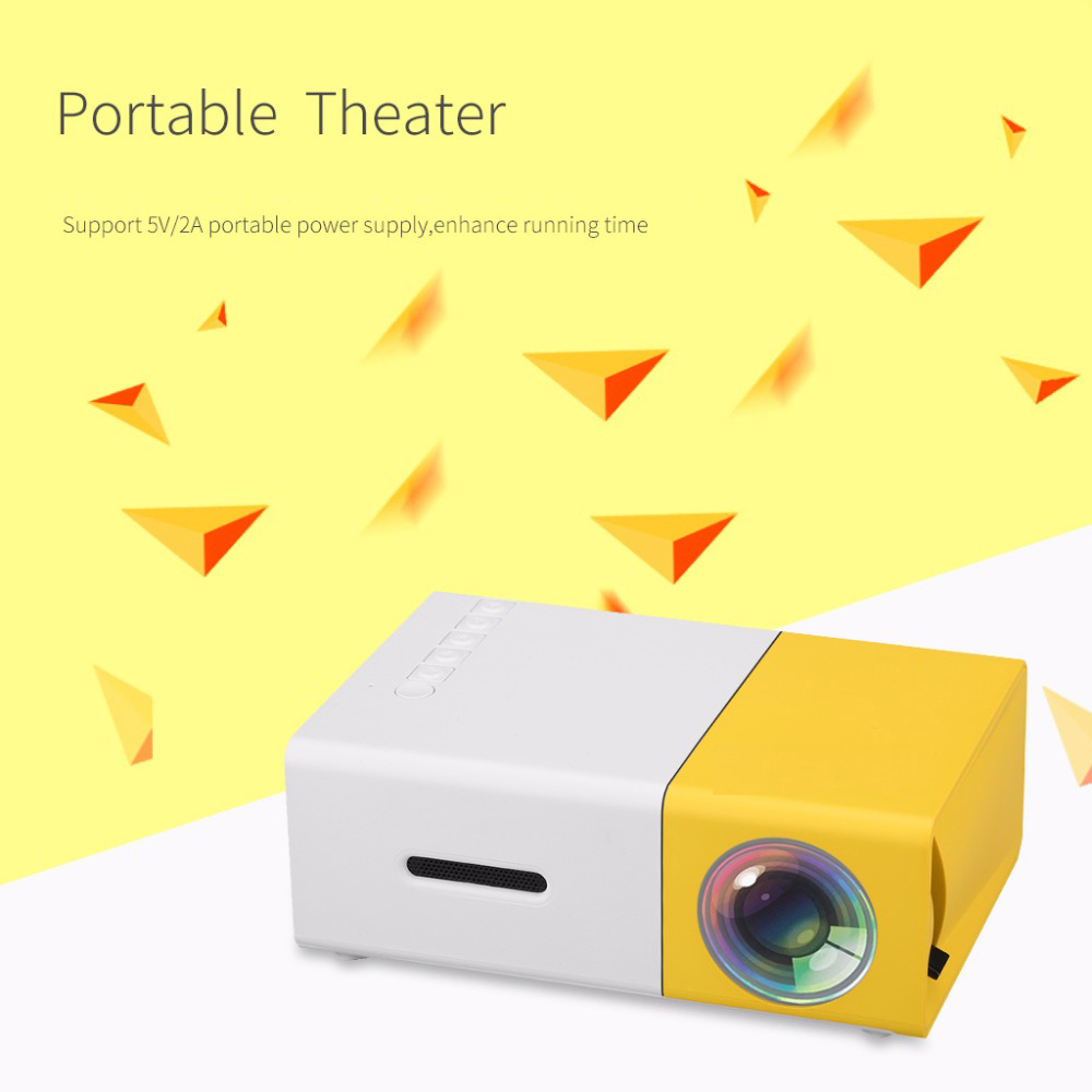 Newest Mini YG300 LCD Projector 400 - 600 Lumens 320 x 240 Pixels 3.5mm Audio/HDMI/USB/SD Inputs Media Proyector/Beamer 1