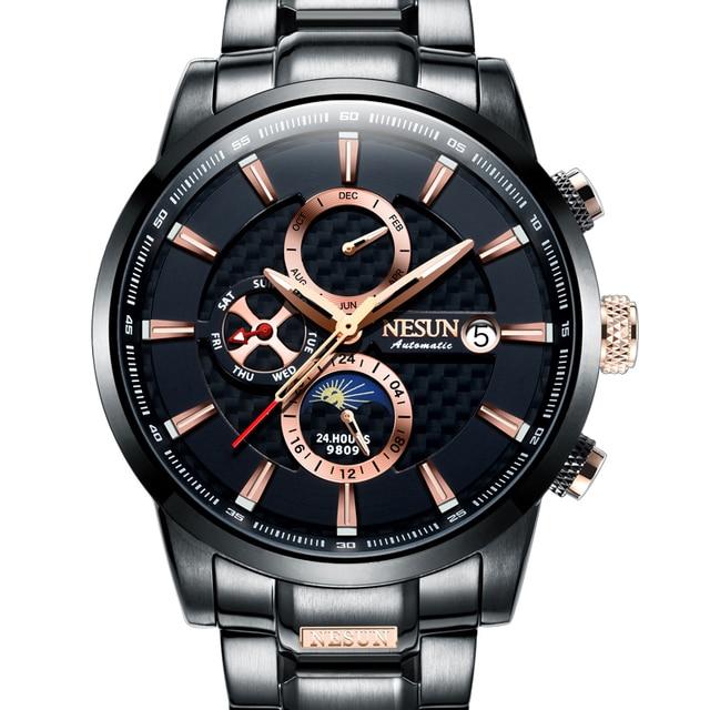 NESUN Luxury Swiss Watch Multifunctional Display Automatic Self-Wind Watch 1
