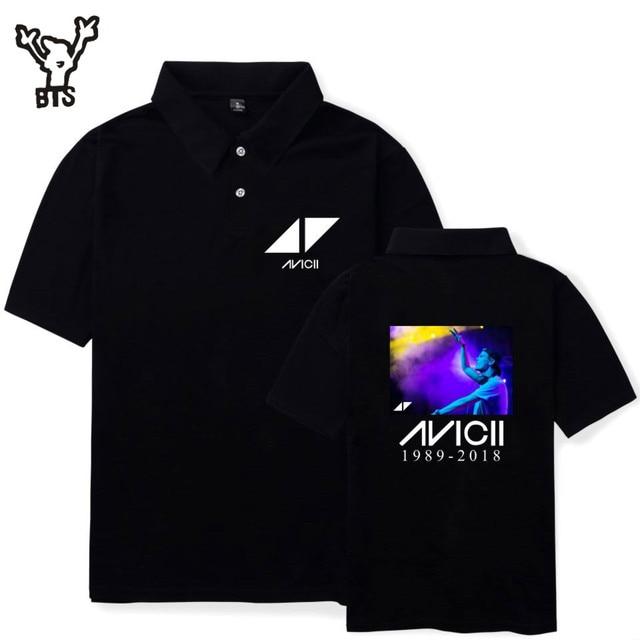 BTS DJ Avicii Летний Лидер продаж Прекрасный Для женщин футболка-поло каваи мультфильм аниме принтом хип прохладный короткий рукав чистая рубашка плюс 4XL