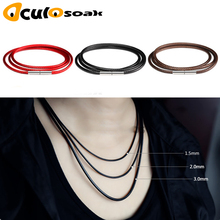 1mm 1.5mm 2mm 3mm Necklace Cord Leather Cord Wax Rope Lace Chain With Rotary Buckle For DIY Necklace Bracelet Jewelry Finding