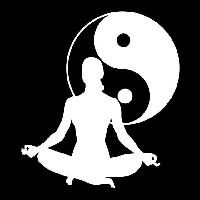 13cm 14 5cm Zen Meditation Health Yin Yang Tai Chi Vinyl Stickers