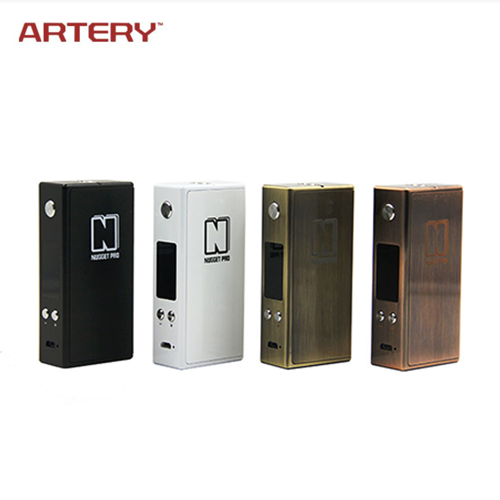 все цены на Original ARTERY Nugget Pro 80W TC Mod 3300mAh Battery 510 Thread Metal Box Electronic Cigarette Vape for RDA RTA RDTA Vaporizer