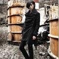 2016 winter Non-mainstream men's fashion slim medium-long woolen male trench coat belt outerwear / M-XL