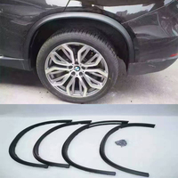 X5 F15 PP 4PCS Auto Car Wheel Arch Fender Guard Protector Flares for BMW F15 X5 2014 2016