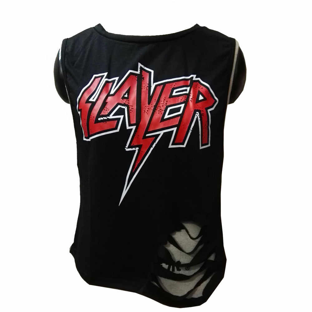 Gaten Punk Meisjes Shirt Korte Mouwen Brief Gedrukt Zomer Tops Fashion Vrouwen Punk Style T-shirt Camisetas Femininas #9502